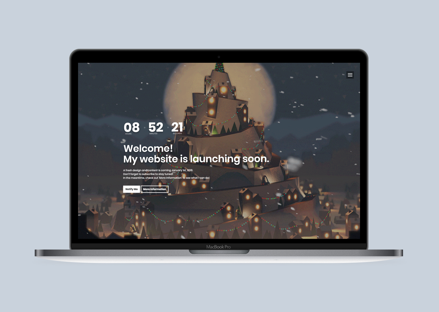 Animated Launching Soon - Personal Site